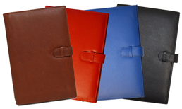 Black, Blue, Red, British Tan Personalized Journals